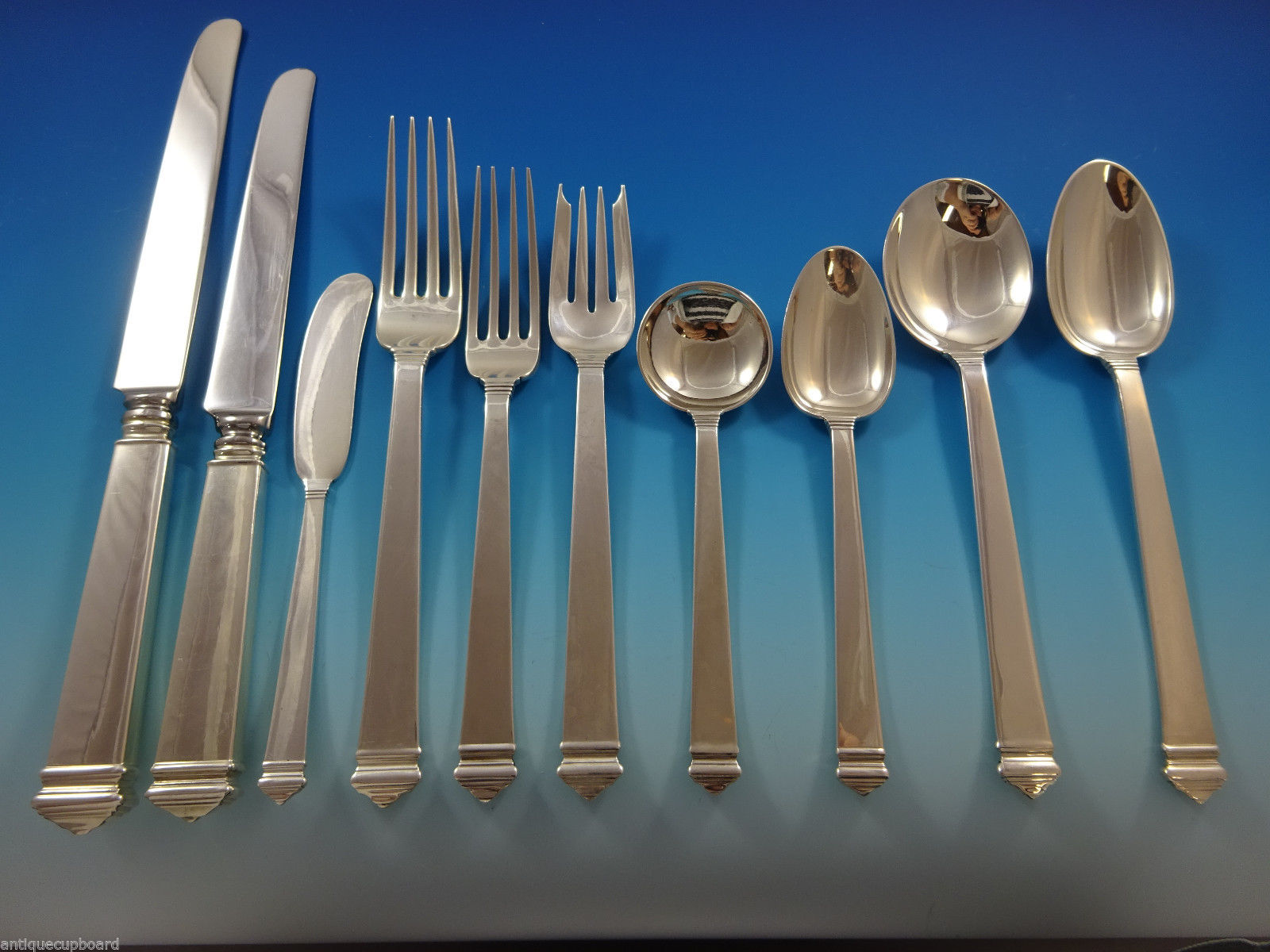 Hampton By Tiffany Amp Co Sterling Silver Flatware Set For