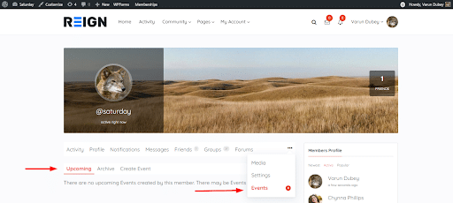BuddyPress Simple Events Plugin Review