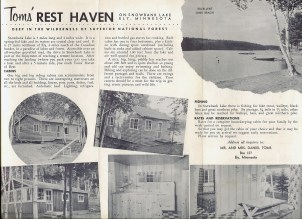 Toms' Rest Haven Brochure inside
