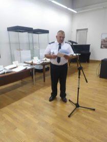 Wystąpienie mł. bryg. w st. spocz. Mirosława Walickiego, przewodniczącego Komisji Historycznej OW ZOSP RP w Lublinie