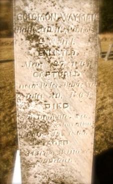 Solomon's memorial in Bradford County, PA. [Wayman]