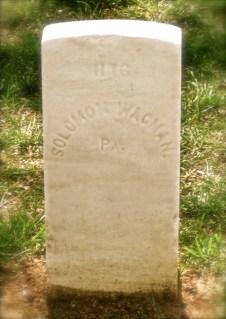 Solomon's grave at Danville National Cemetery [Wagman]