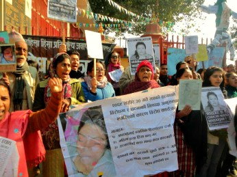 Family of Sarswoti Subedi-protesting for Justice for their dead daughter