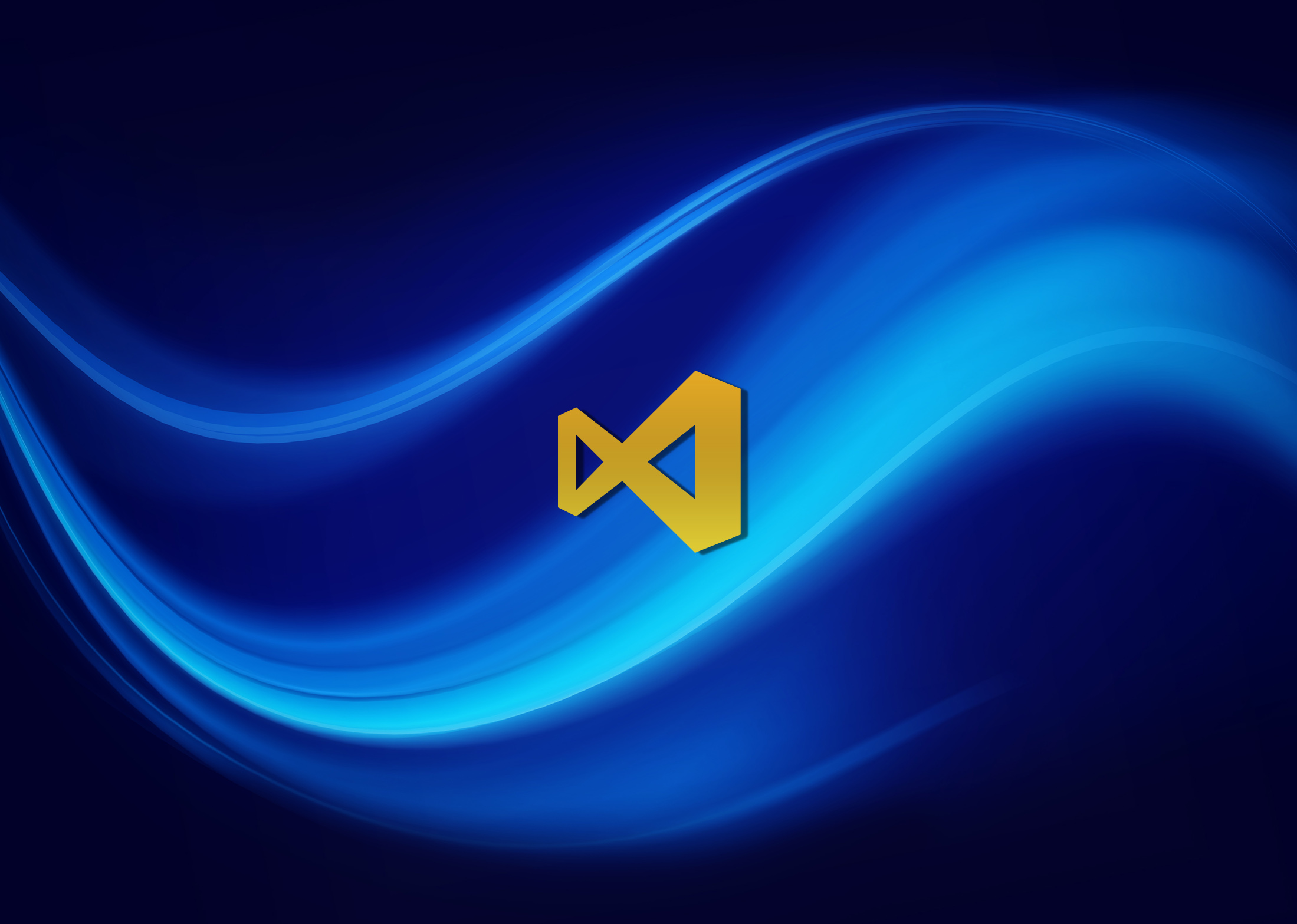 Visual Studio Wallpaper Swirly Blue