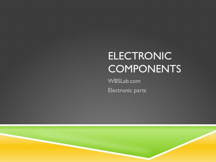Electronic components broker