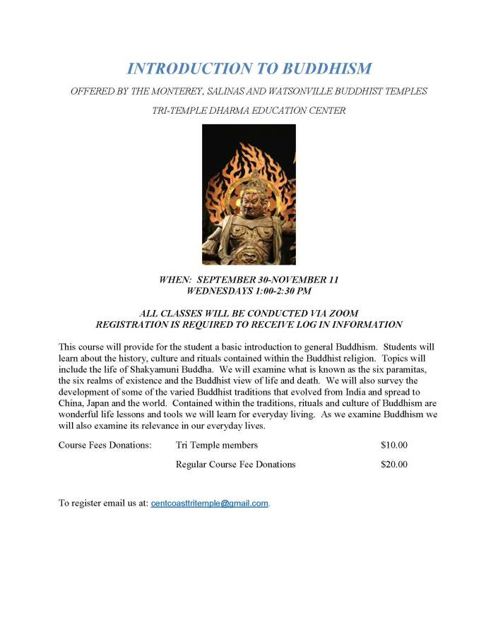 Intro to Buddhism Sept 2020 flyer
