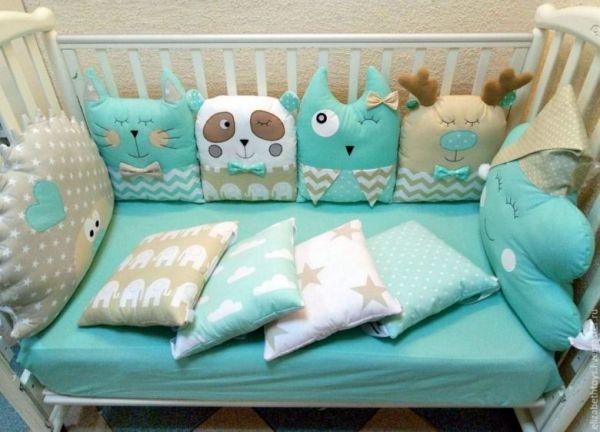 Детские бортики в кроватку: несколько мастер-классов по ...