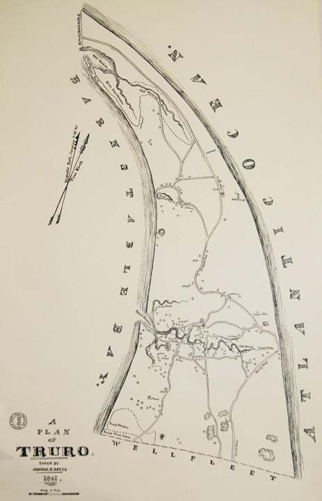 Early Map of Truro, 1845, Joshua Davis, Courtesy