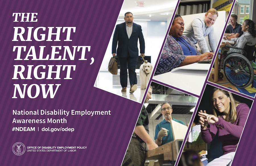 poster for ODEP's National Disability Employment Awareness Month
