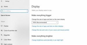 Screenshot of Display Options