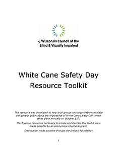 White Cane Safety Day toolkit cover thumbnail