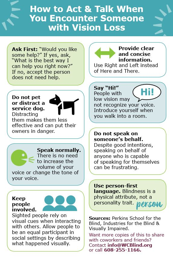 How to Act & Talk When You Encounter Someone with Vision