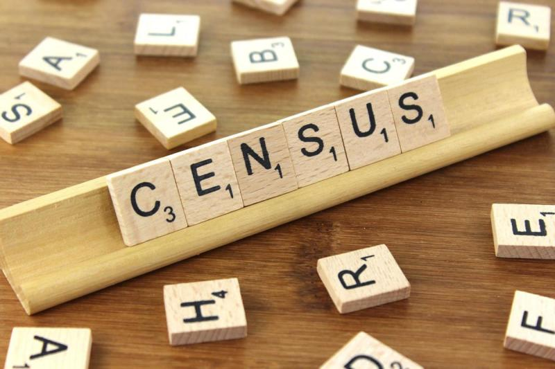 Census is written out with scrabble titles