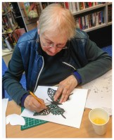 Papercutting for Silver Sunday 2014 at Charing Cross Library