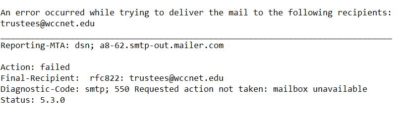 WCC Trustees communication is still complicated