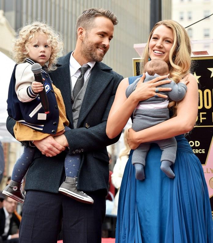 Blake Lively, Ryan Reynolds With Their Kids