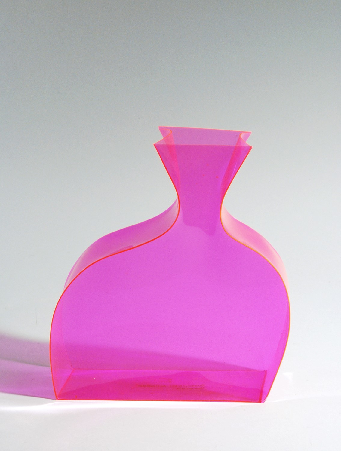 Neon Pink Acrylic Vase West Coast Event Productions Inc