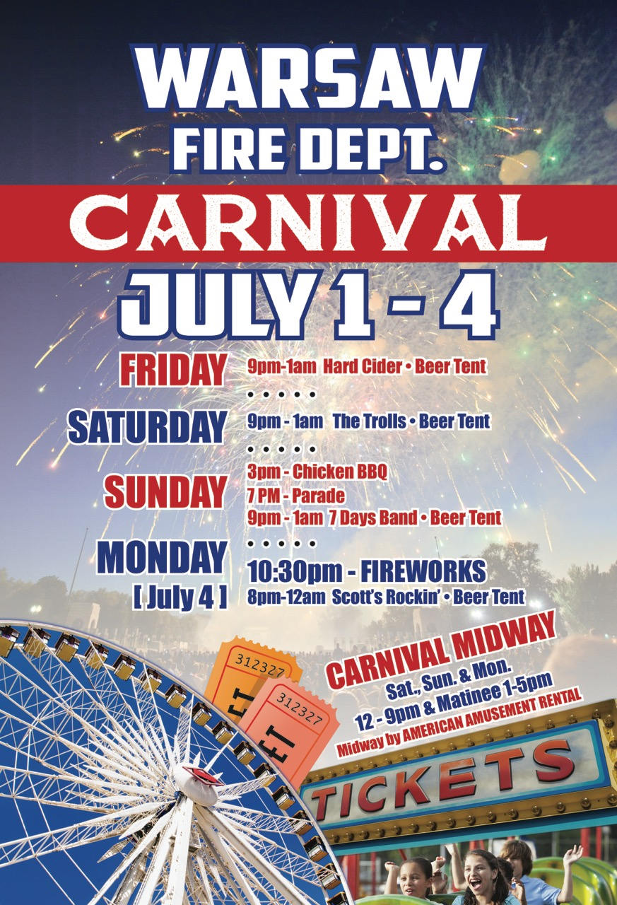 Warsaw Fire Department Carnival | Wyoming County Fire Wire