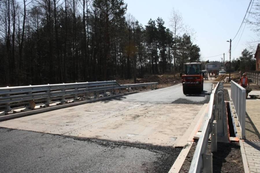 Remont mostu w Trzcianie