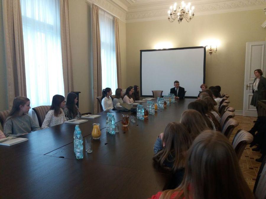 Młodzież z wizytą w Ministerstwie Sprawiedliwości [FOTO]
