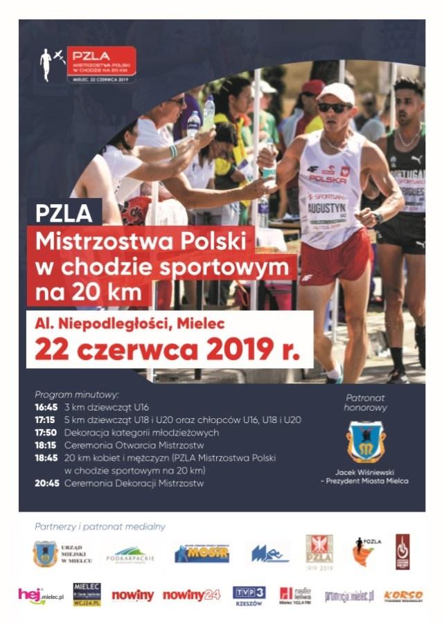 PZLA Mistrzostwa Polski w chodzie na 20 km – Mielec, 22.06.2019