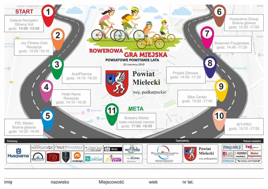 Poznaj wszystkie przystanki rowerowej gry miejskiej i … nagrody!