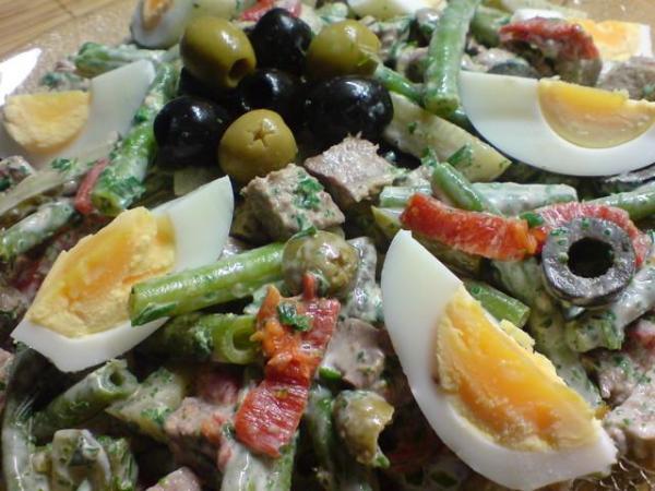 Салат из отварной говядины с овощами – пошаговый рецепт с фото