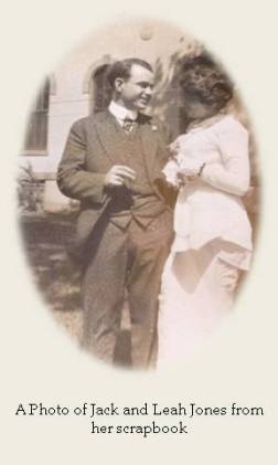 A Photo of Jack and Leah Jones from her scrapbook
