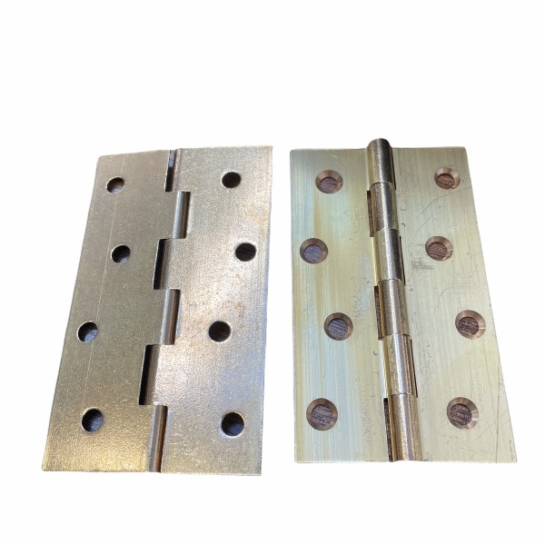 Pair of Solid Drawn Brass Hinge 100mm