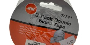 Jak 3 Pack Double Sided Tape White Size 24mm x 10m Each Tape 07721