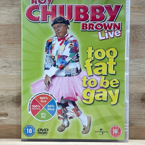 Roy Chubby Brown Live Too Hot To Be Gay Cert (18) Used VG
