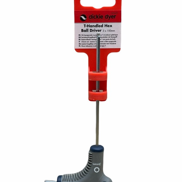 Dickie Dyer T-Handled Hex Ball Driver 3x100mm