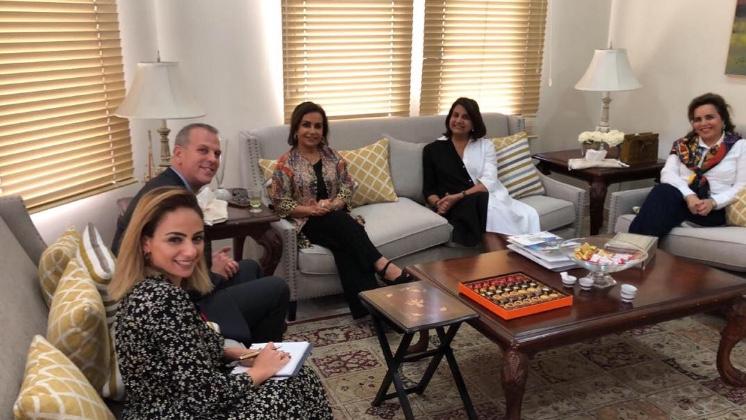 زيارة السفير الكندي بدولة الكويت للجمعية الثقافية الاجتماعية النسائية