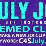 """Clips4Sale """"July JOI"""" Clip Promotion (July 2021)"""