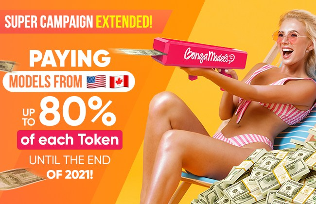 BongaCams Extends 80% Payout for the Rest of the Year