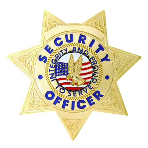 Security Officer 7-Point Star Gold Badge