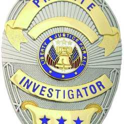 Private Investigator Badge Oval Shield