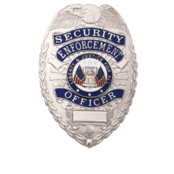 Security Enforcement Officer Silver Shield Badge