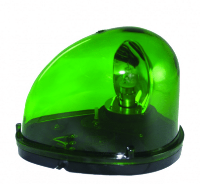 Green Flashing TearDrop Beacon