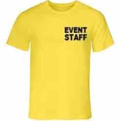 Event Staff T-Shirt - Yellow