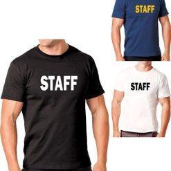Hanes Tagless 5250 Comfortsoft Cotton T-Shirt with Staff ID Navy Blue Black White