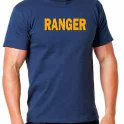 Hanes Tagless 5250 Comfortsoft Cotton T-Shirt with Ranger ID Black Navy Blue White