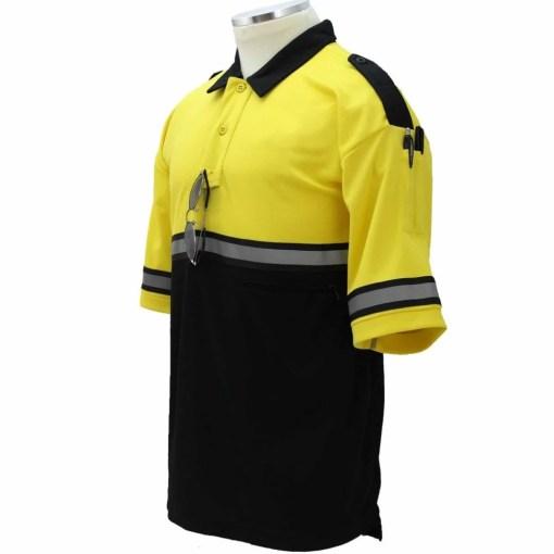 Two-Tone Bike Patrol Shirt with Zipper Pocket Yellow/Black TT02