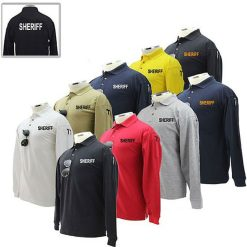 SHERIFF Preshrunk Cotton Tactical Long Sleeve Polo Shirt