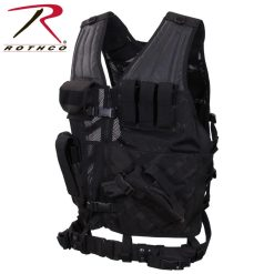 Rothco Cross-Draw MOLLE Black Tactical Vest 6491
