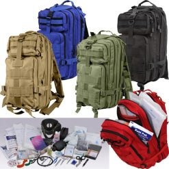 Rothco Military Trauma Kit 1105 in Red Blue Coyote Brown Olive Drab and Black
