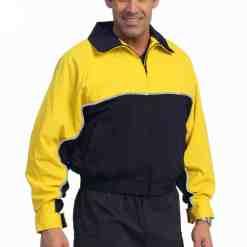 United Uniform Waterproof Zip-Off Sleeve Bike Jacket with Removable Liner Yellow/Navy