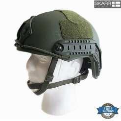 Skarr Armor Kevlar NIJ IIIA Bulletproof + V50 Fragproof MICH Helmet SWAT OD Green Sheriff SWAT