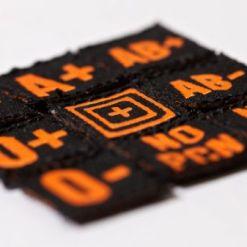 5.11 Blood Type Patch Kit 17003