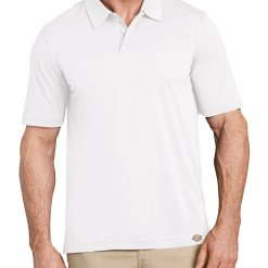 Dickies Men's Industrial Polo Without Pocket LS405 LS405_WH_FR